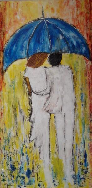 Le Couple au parapluie Bleu