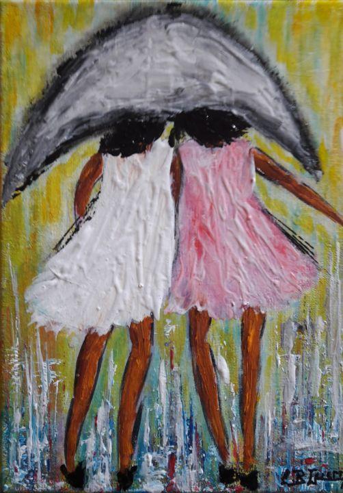 C.B.GUERRY - Les Jeunes filles au parapluie