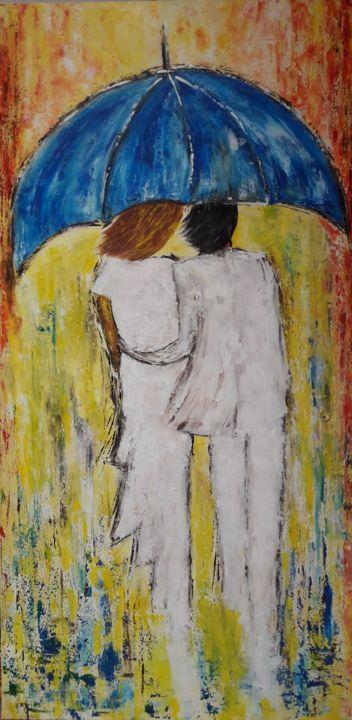 C.B.GUERRY - Le Couple au parapluie Bleu